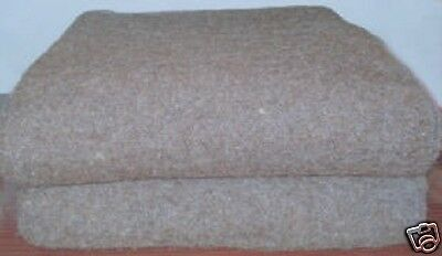 """New! 100 % Lambs Wool Blanket / Throw size: 79 """" x 59"""", 1600 g. weight."""