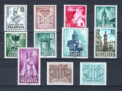 SPAIN Valencia - COMPLETE MNH VALENCIA COLLECTION (11 STAMPS)