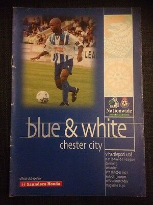 Chester City Vs Hartlepool 1997/98 Division Three VGC