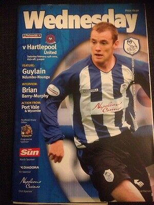 Sheffield Wednesday Vs Hartlepool 2003/04 Division Two VGC