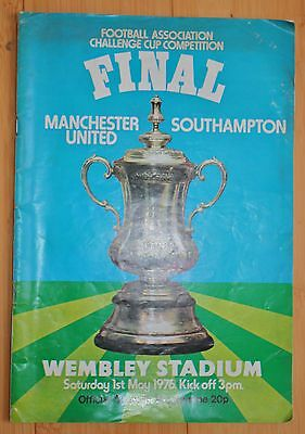 Manchester United  v Southampton  FA Cup Final Programme for 1976.