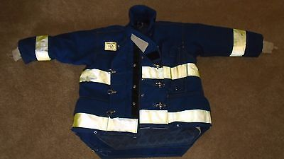 Blue Yellow Morning Pride Bunker Turnout Coat New Never in Service Size 50 2005