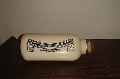 Antique Doulton Lambeth Pottery London Improved Foot Warmer