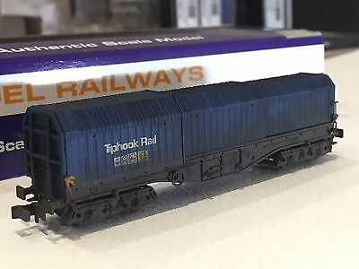 Dapol N Gauge Telescopic Tiphook Steel Wagon Pro Weathered. 4 Wagons Available.