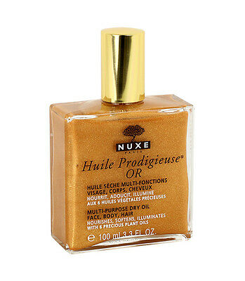 Nuxe Huile Prodigieuse OR Multi Usage Dry Skin Oil Gold Shimmer 100ml Authentic