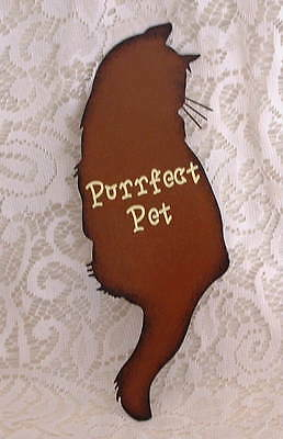 New Crazy Cat Lady Country Folk Purrfect Pet Kitten Metal SIGN Ornament