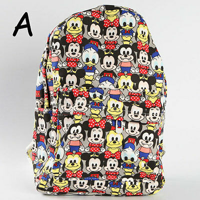 Tsum Tsum mickey mouse canvas backpack school travel leisure shoulder bag new