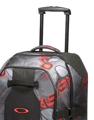 Luggage Oakley Large Roller Travel Case Wheeled Suitcase Grey Red 101L