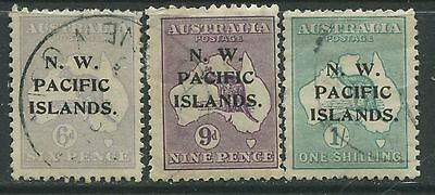 N. W. Pacific Islands 1918-19 6d, 9d, & 1/ CDS used