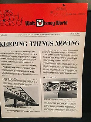 1974 Disney World Eyes and Ears newsletter Monorail, People Mover transportation