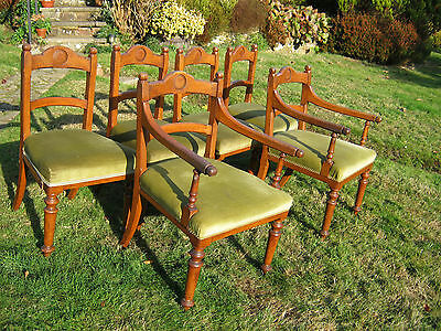 Oak Dining Chairs - Victorian  - Pugin/Gothic Style - Set of 6