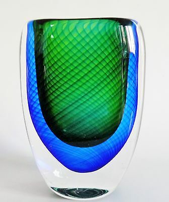 Vicke Lindstrand 1950s Kosta art glass vase sculpture