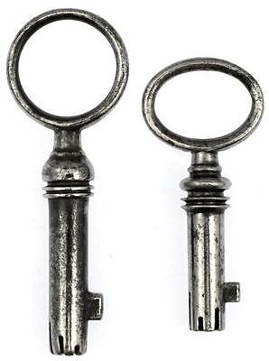 Antique Bramah/Mordan Type Keys x 2 - ref.K258