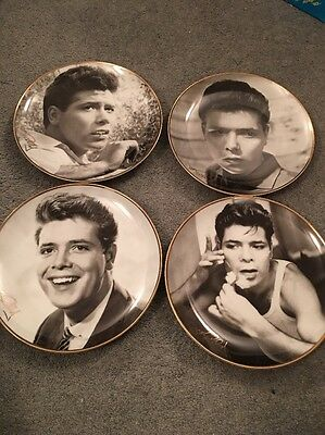 Set Of 4 Danbury Mint Cliff Richard Plates Early Years Collection