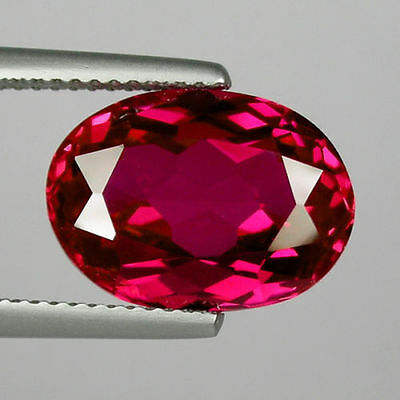 A PAIR OF 8x6mm OVAL-FACET TOP-RED RUBY GEMSTONES £1 NR!