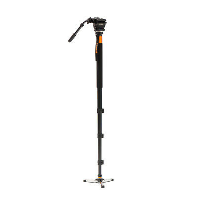 Professional Video Monopod Tripod Fluid Head & Base for DSLR camera camcorder