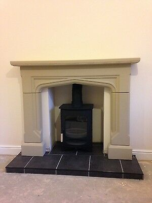 Stone Fireplace / Surround wood burner gas electric fire