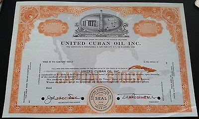 United Isla Juana Puerto Rico Caribe Oil Co Specimen Bond 1956 Pre Communist