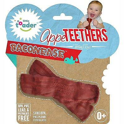 Little Toader Teething Toys Baconease Appe-Teethers NEW, FREE FAST SHIPPING
