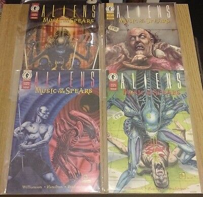 Aliens Music of the Spears #1 to #4 Comics