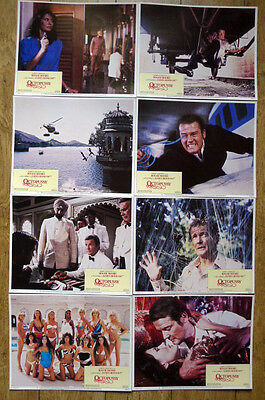 Octopussy. Roger Moore. 007 James Bond. US. 14x11 Lobby Cards.