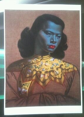 Tretchikoff chinese girl green lady beautiful print retro kitsch vintage