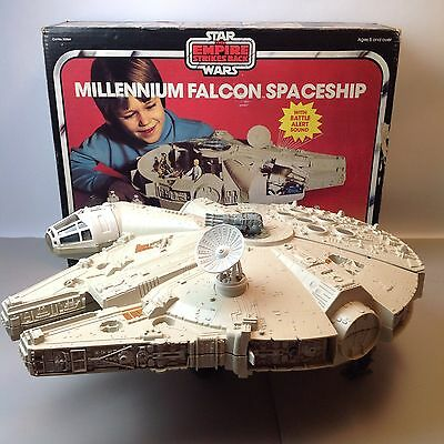 Vintage Star Wars Millennium Falcon Boxed Working Palitoy ESB