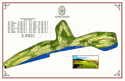 Nairn Golf Club, Course Layout/Map, Nairn, Scotland, Reproduction on Kodak Paper