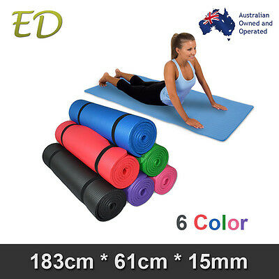 Free carry Strap Free Postage Thick 10-20MM Nonslip NBR Yoga Gym Pilate Mat