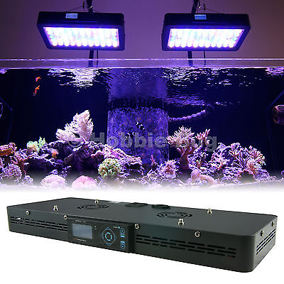 "24"" Dimmable Dusk/Dawn Timer Saltwater Coral Tank LED Aquarium Light Fixture"