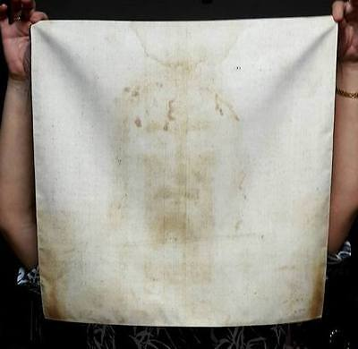 Shroud of Turin Jesus Face Full Size Fabric Print Vintage Antique Relic New Art