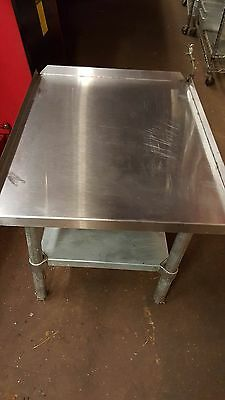 """S/S Equipment Stand, 24"""" Wide, 30"""" Deep Heavy Duty Stainless Steel"""