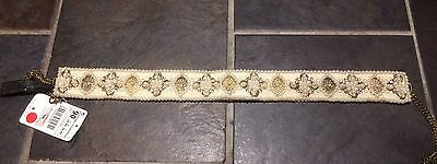 Zara Jewelled Pearl And Diamanté Belt BNWT UK 34