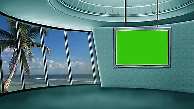 2 set of Animated Virtual Background virtual set