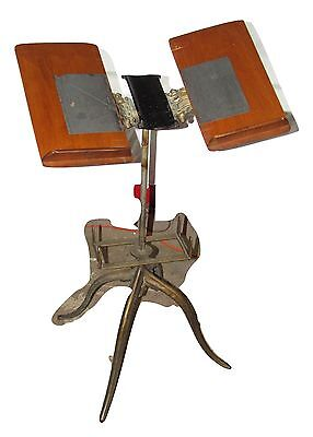 Antique Flanagan Chicago Cast Iron Spring Folding Dictionary Stand~Book~Bible