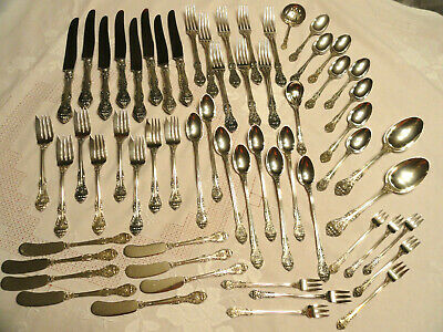60Pc Gorham Service for 8 Sterling Silver Flatware King Edward w Serving Pieces