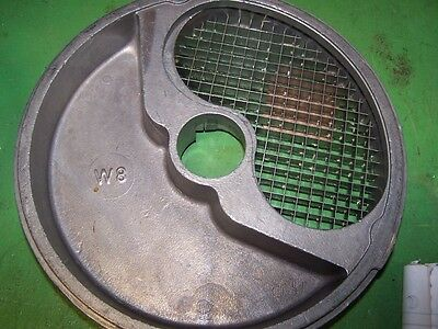 Good Used W8 Cubing Plate for Globe Food Processor GFP700 series models