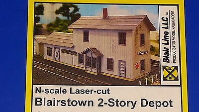 N Scale Blairstown Two Story Depot Blair Line