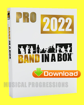 Band In A Box 2018 Pro Windows Digital - Audio Music Software - New Full Retail