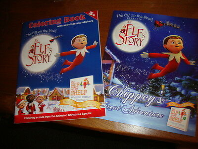 Elf on the Shelf Books Elf's Story Coloring & Sticker +Chippey's Great Adventure