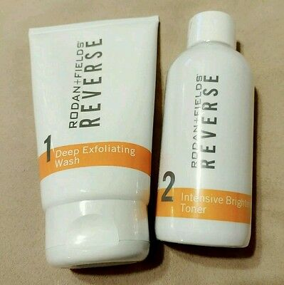 2019 Rodan and Fields REVERSE LOT Deep Exfoliating Wash & Brightening Toner NEW!
