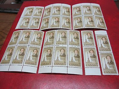 Canada Untrade# 501 6c BROCK & MONUMENT1969,32 STAMPS,MADE UP BLOCKS,PAIRS  MNH