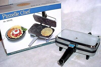 Vitantonio Pizzelle Chef Iron Holiday Cookie Maker Baker Waffle Non Stick NICE
