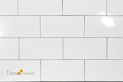 Gloss White Ceramic Wall Tile 100x200 Subway