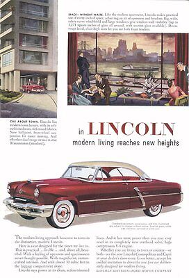 1952 Lincoln - 8X10 Reproduction Photo
