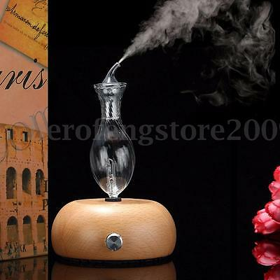 Nebulizing Pure Essential Oil Fragrance Humidifier Air Aroma Wood Glass Diffuser