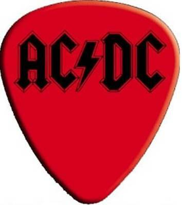 AC/DC - 2 Guitar Pick - Red With Black Logo-Back In Black Angus Licensed New