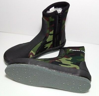 YONGYUE Fishing Boots Shoes Anti-Slip Nails Spikes Dry Camouflage US Size 8-12