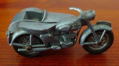 Lesney  Made in England by Lesney Triumph T110 Motor Bike and Side Car,No 4,nice