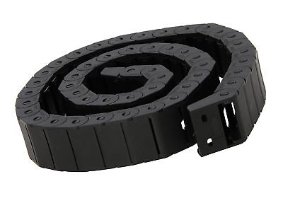 15mm x 30mm Black Plastic Semi Closed Drag Chain Cable Carrier 1M...